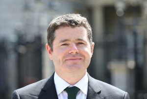 12/07/2013. The new Minister for European Affairs, Paschal Donohoe at a press briefing outside the dail. Paschal Donohoe replaces Lucinda Creighton, who resigned last night after voting against the government on the abortion legislation. Photo: Sasko Lazarov/Photocall Ireland
