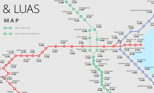 DART & Luas Map Illustrates Dublin Rental Prices