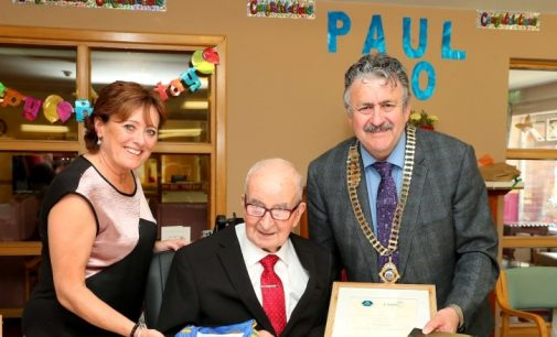 CIF Honours 100 year-old Carpenter Paul Fogarty