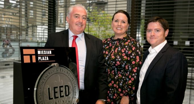 Miesian Plaza in Dublin Presented With Certification For Global Green Building Standard
